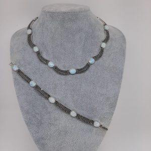 Marcasite Neck Piece With Opals
