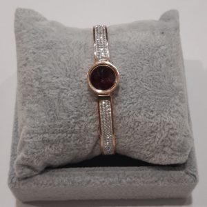 Rose Gold Bangle With Interchangeable Stone