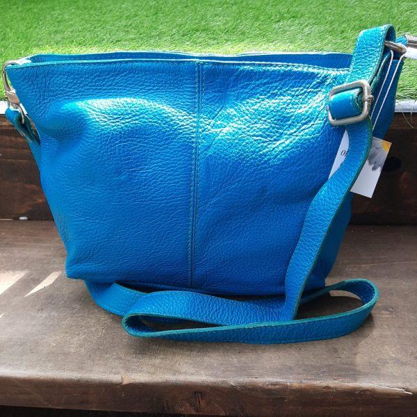 Turquoise Leather Handbag