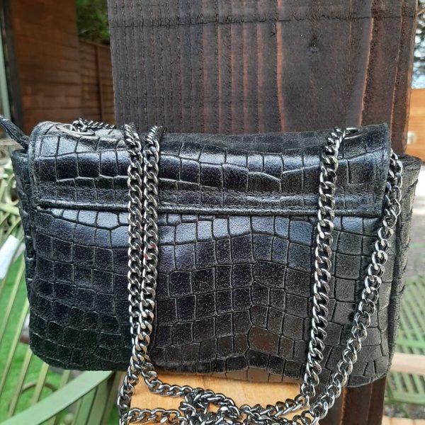 black-leather-crocodile-crossbody-bag