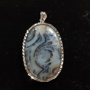 Agate & Sterling Silver Pendant