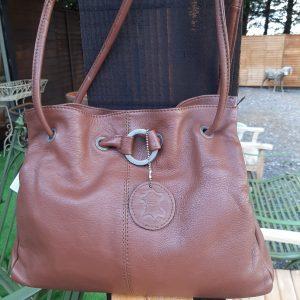Soft Leather Tan Shoulder Handbag