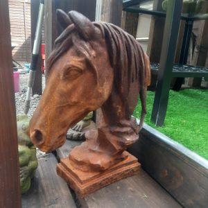 Stunning Cast Iron Horse Head