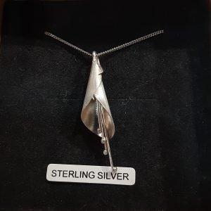 Sterling Silver Fuchsia Pendant
