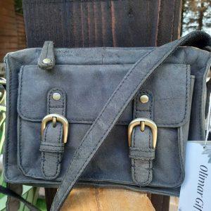 Small Grey Vintage Leather Handbag