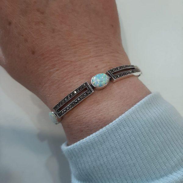 marcasite & opal bracelet