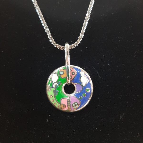 multicolour-enamel-disc