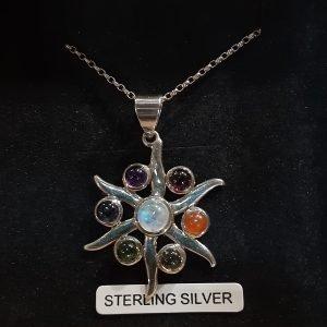 Natural Stone Star Pendant