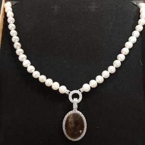 Pearl Necklace & Sterling Silver Pendant