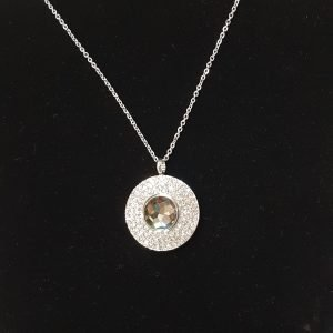Silver Pendant With Interchangeable Center