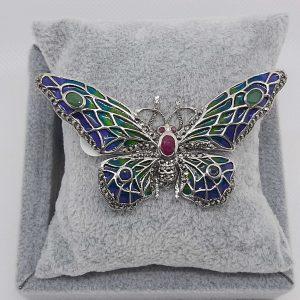 Marcasite Butterfly Brooch
